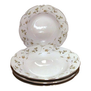 Premiere Mikasa Briarwood China Soup Bowls - Set of 4 For Sale