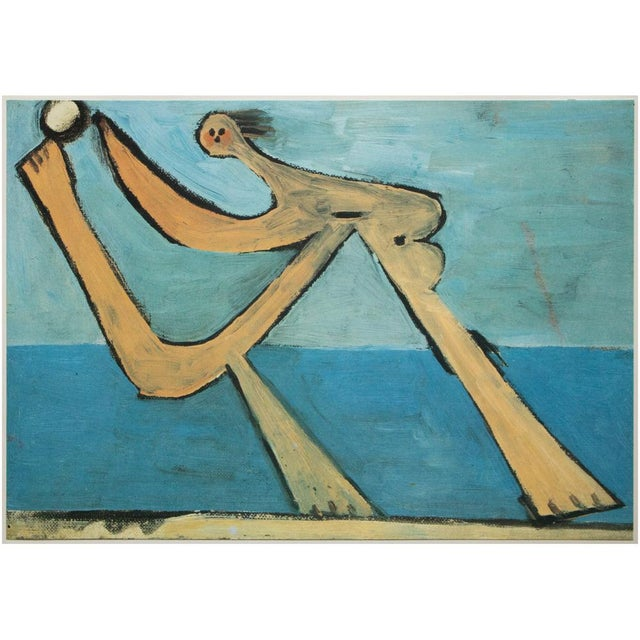 """Blue 1985 Pablo Picasso, """"Bather With a Ball"""" Parisian Photogravure For Sale - Image 8 of 8"""