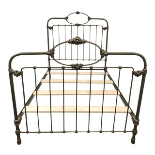 Antique Iron Bed, a Full Size For Sale