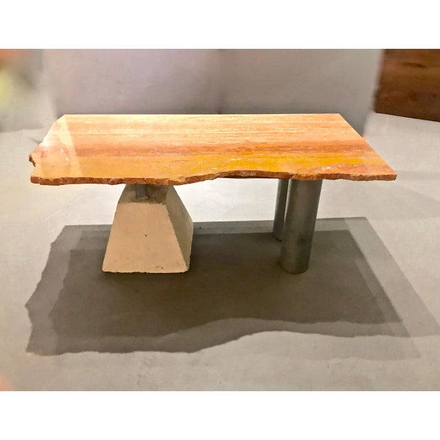 Marble Memphis Inspired Marble Top Coffee Table by Kevin Thomas Ferrell For Sale - Image 7 of 8