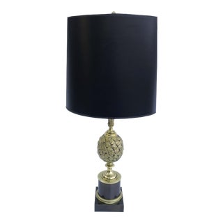 1960s Maison Charles Pine Cone Bronze Table Lamp For Sale