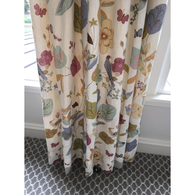 2010s Vervain Padgett Orchid Drape Panels - Set of 4 For Sale - Image 5 of 12