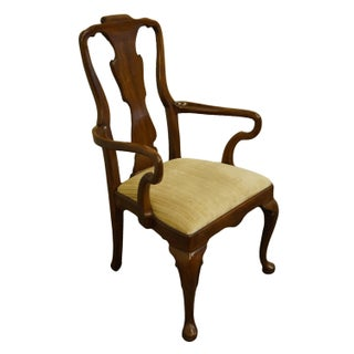 Late 20th Century Henredon Furniture Morganton, Nc Traditional Queen Anne Style Dining Arm Chair Preview