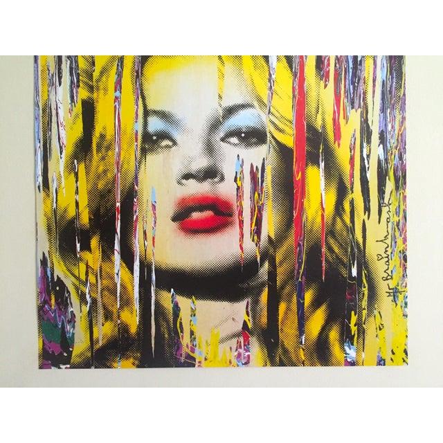 "Pop Art Mr. Brainwash "" Kate Moss "" Rare Authentic Lithograph Print Pop Art Poster For Sale - Image 3 of 13"