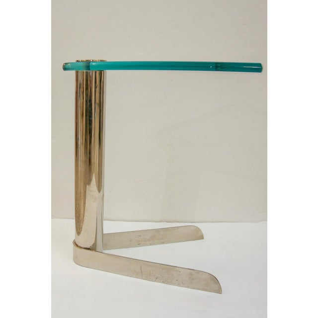 Drinks table in glass and stainless steel by Pace Furniture Company. For trade price or more information please click...