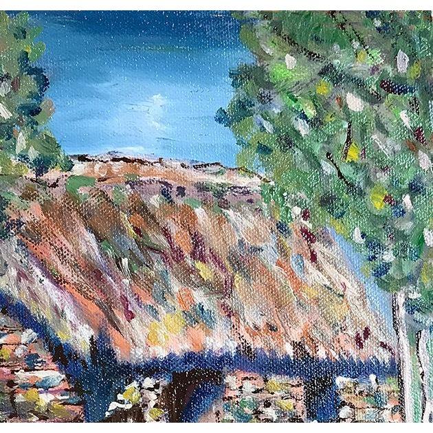 Nancy T. Van Ness Irish Home Original Oil Painting For Sale - Image 4 of 7