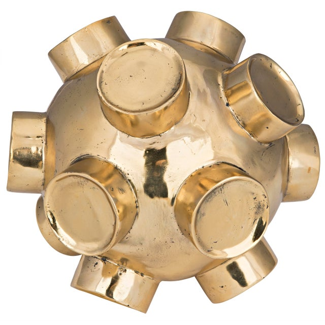 Noir Mota Sculpture, Brass For Sale - Image 4 of 4