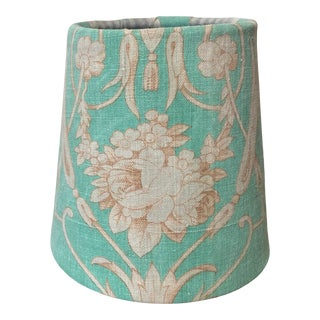 Antique Blue French Fabric Chandelier Shade For Sale