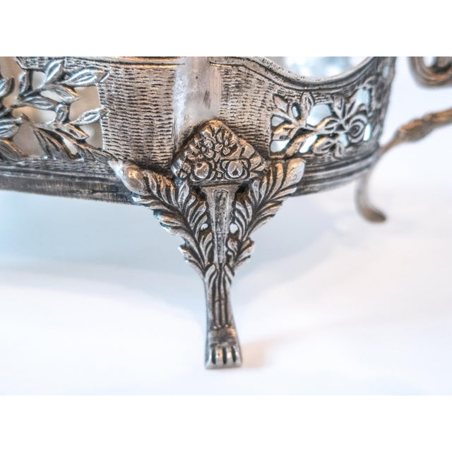 Art Nouveau Jardiniere Style Tray Silver Plate Ornate - Image 4 of 7