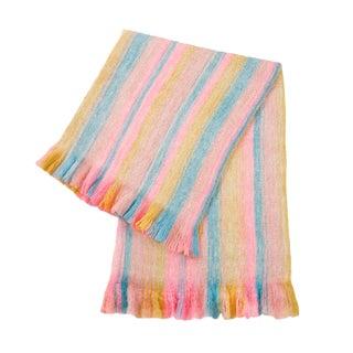 Rainbow Striped Fuzzy Blanket