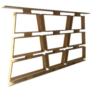 Mid Century Wood Room Divider/Shelves For Sale