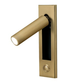 English Brass Led Wall Light With Docking and Push Button Switch For Sale
