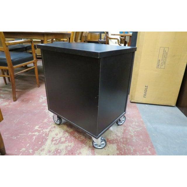 1990s Vintage Industrial 2 Drawer Black Laminate File Cabinet For Sale - Image 5 of 6
