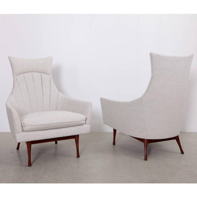 Mid-Century Modern Pair of Paul McCobb Symmetric Group Lounge Chairs by Widdicomb For Sale - Image 3 of 8