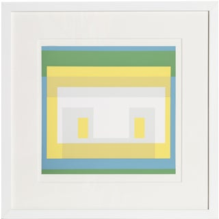 Josef Albers - Portfolio 1, Folder 28, Image 1 Framed Silkscreen For Sale