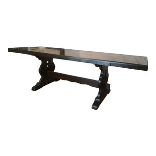 Large Farmhouse Trestle Table Vermont