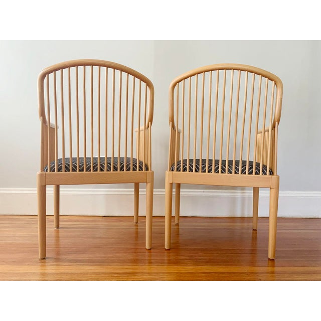 Charles Stendig 1980s Vintage Stendig Andover Minimalist Arm Chairs- A Pair For Sale - Image 4 of 7