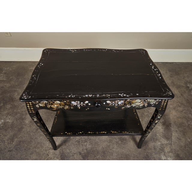 19th Century French Colonial Mother of Pearl Table For Sale - Image 9 of 10