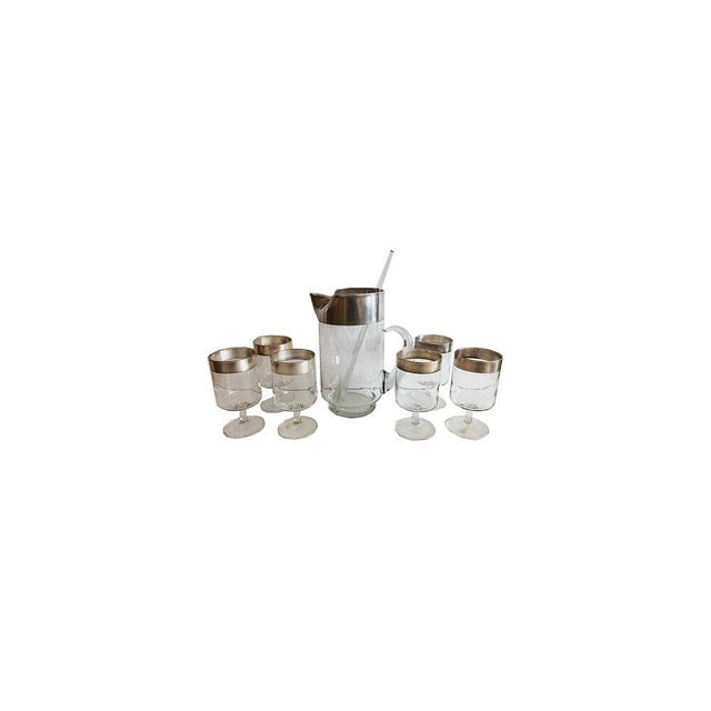 An iconic 1950-1960 Dorothy Thorpe Allegro Cocktail set. Each piece has been hand-dipped in sterling silver by the artist....