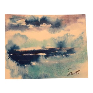 """Nancy Smith Original Watercolor Painting """"Bursts"""" For Sale"""