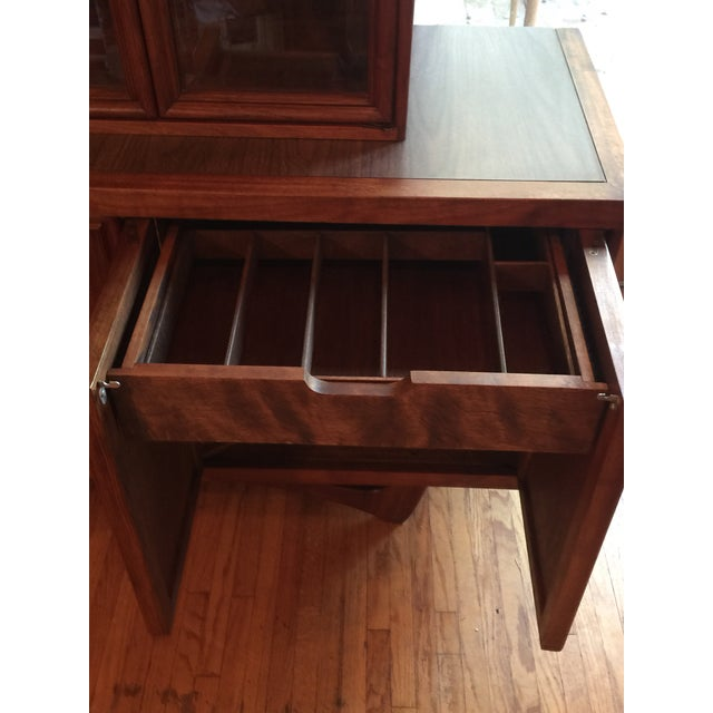 1960s Mid-Century Modern Walnut Credenza Hutch For Sale - Image 11 of 13