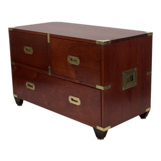 Labeled Charlotte Horstmann Campaign Style Chest For Sale