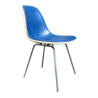 A Mid Century Modern Fiberglass Eames Dsx Single Vanity or Office Chair. For Sale