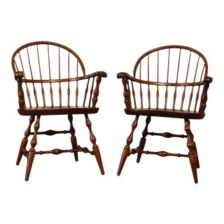 Nichols & Stone Vintage Pair Windsor Armchairs For Sale
