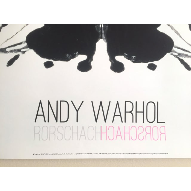 "Andy Warhol Andy Warhol Original Lithograph Print Pop Art Poster ""Rorschach Ink Blot"", 1984 For Sale - Image 4 of 7"