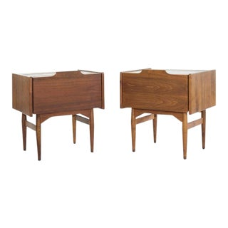 Drop Front End Tables by John Keal for Brown Saltman, Circa 1950s - a Pair For Sale
