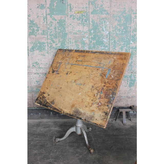 Early 20th C. Antique American Drafting Table For Sale - Image 4 of 5