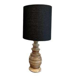 Mid-Century Handmade Pottery Lamp For Sale