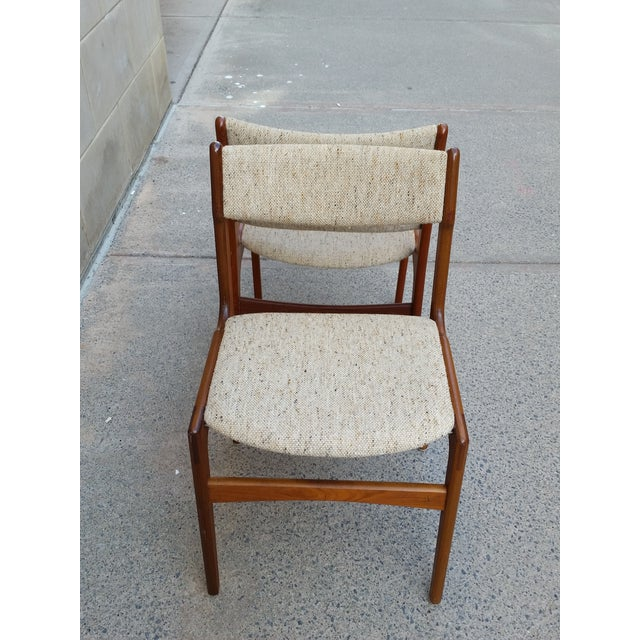 Danish Modern Teak Dining Chairs - A Pair - Image 6 of 7