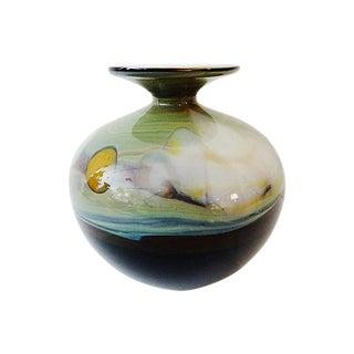 American Art Blown Glass Vase For Sale