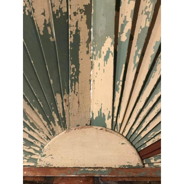 Antique Architectural Demilune Sunburst Window Fragment For Sale - Image 12 of 13