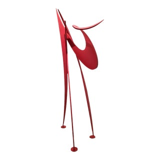 """Monumental Abstract Steel Sculpture Titled """"Tripo"""" by Russell Jacques For Sale"""