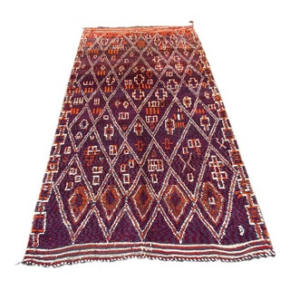 1980s Moroccan Talsint Rug- 6′10″ × 12′9″ For Sale