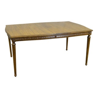 Davis Cabinet Co. Solid Walnut French Louis XVI Style Dining Table