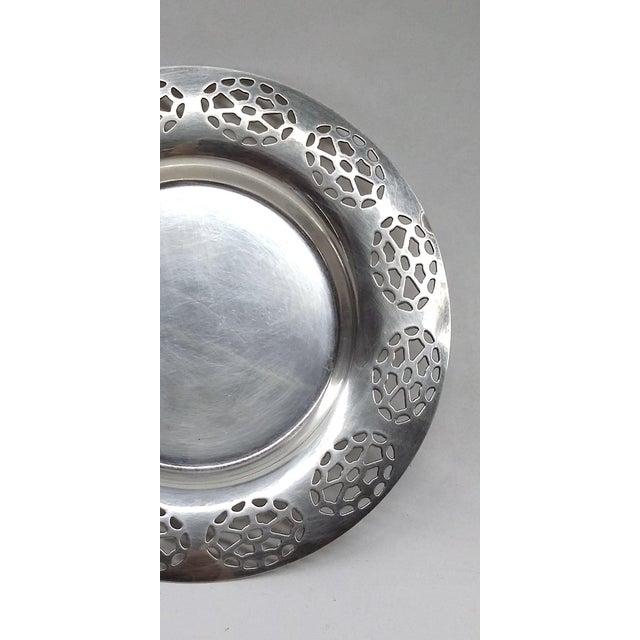 Oneida Silver Cutout Wine Plate - Image 6 of 10