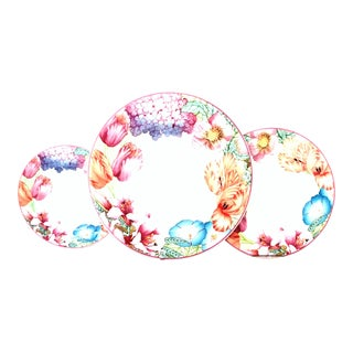 "German Bone China Dinnerware ""Corolla"" by Villeroy & Boch, Germany - Set of 36 For Sale"