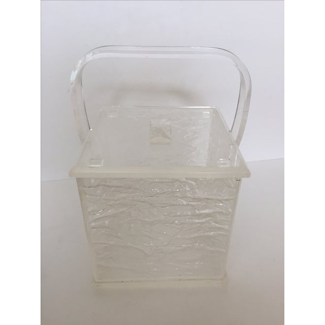 Lucite Chopped Ice Deisgn Ice Bucket - Image 2 of 7