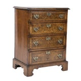 Image of An English Burl Walnut Chest of Drawers For Sale