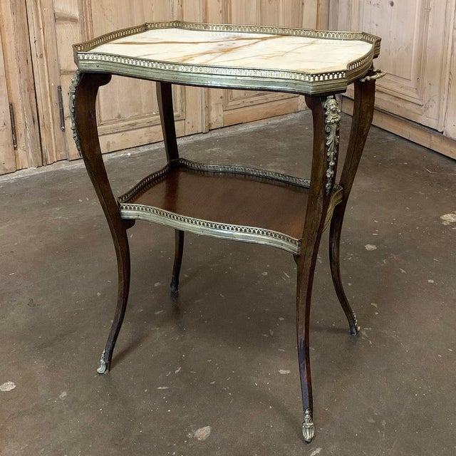 19th Century French Louis XVI Marble Top End Table For Sale - Image 13 of 13
