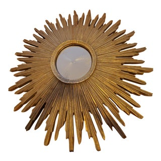 1950s Mid-Century Sunburst Mirror For Sale