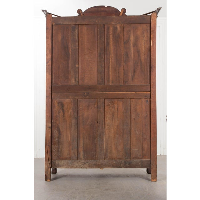 18th Century French Mahogany Armoire from the Port of Normandy For Sale - Image 9 of 13