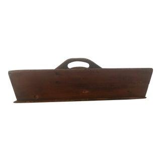 Antique Primitive Wood Caddy For Sale