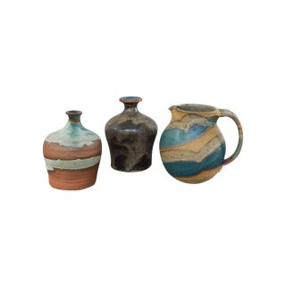 Teal Studio Pottery - Set of 3
