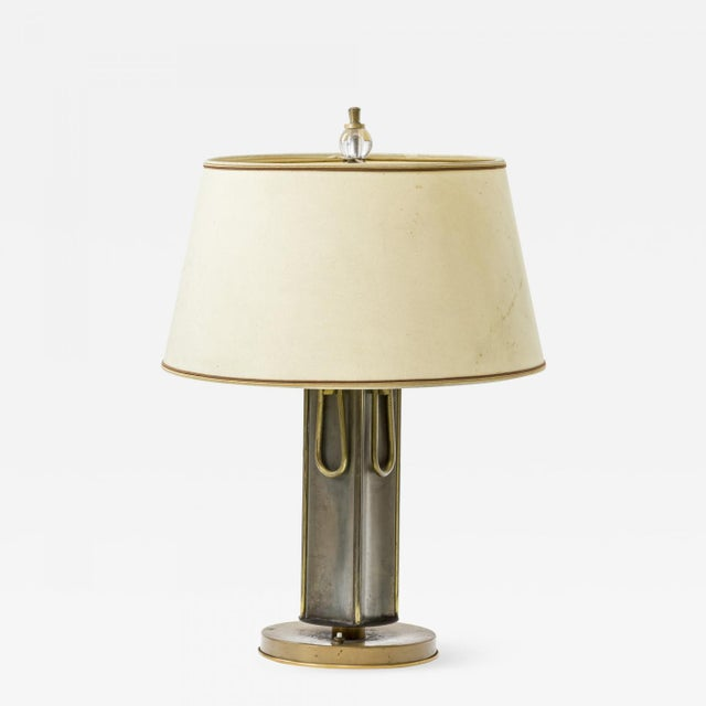 Aluminum Marcel Asselbur 1950s 4 Rings Table Lamp For Sale - Image 7 of 7