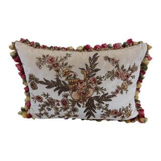 French Appliquéd Silk Velvet Pillow