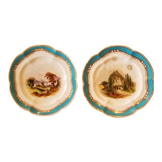 Pair of Scenic Plates For Sale